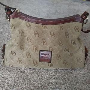 Dooney and Bourke brownlogo hobo purse